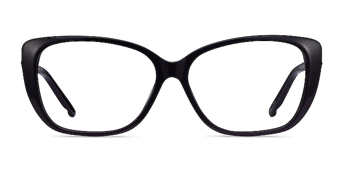 Elegance Noir Acétate Montures de lunettes de vue d'EyeBuyDirect