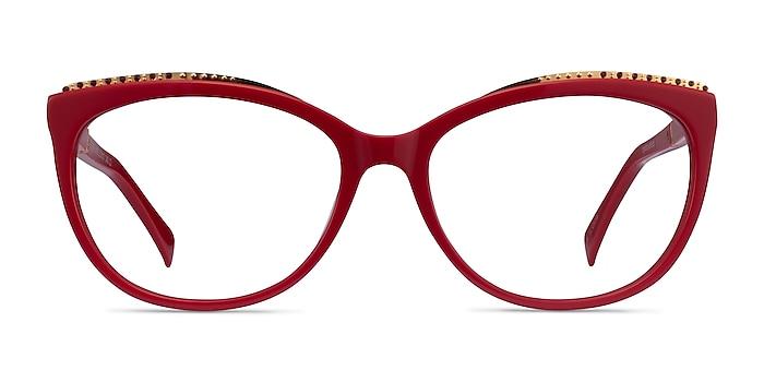 Brilliance Red Acetate Eyeglass Frames from EyeBuyDirect