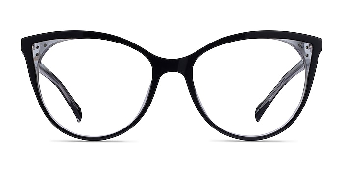 Bijou Black Acetate Eyeglass Frames from EyeBuyDirect