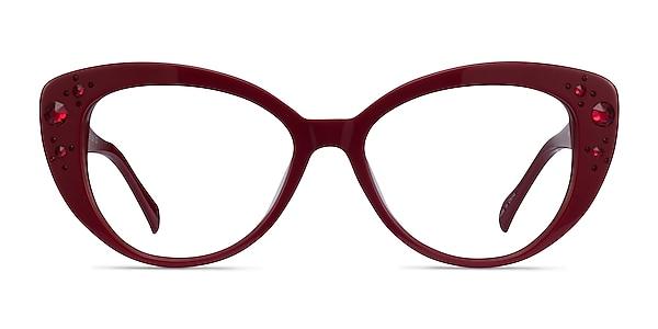 Diamond Burgundy Acetate Eyeglass Frames