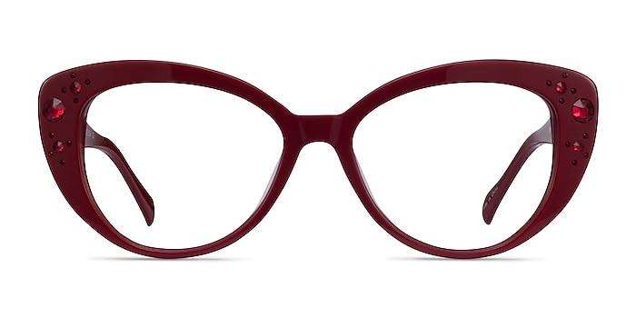 Diamond Burgundy Acetate Eyeglass Frames from EyeBuyDirect