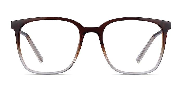 House Gradient Brown Plastic Eyeglass Frames from EyeBuyDirect