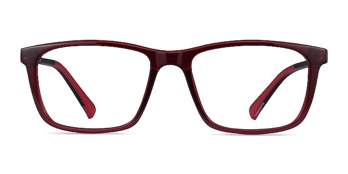 Brad Clear Red Black Plastic Eyeglass Frames from EyeBuyDirect