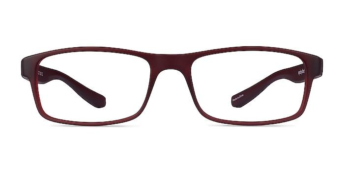 Over Dark Red Plastic Eyeglass Frames from EyeBuyDirect