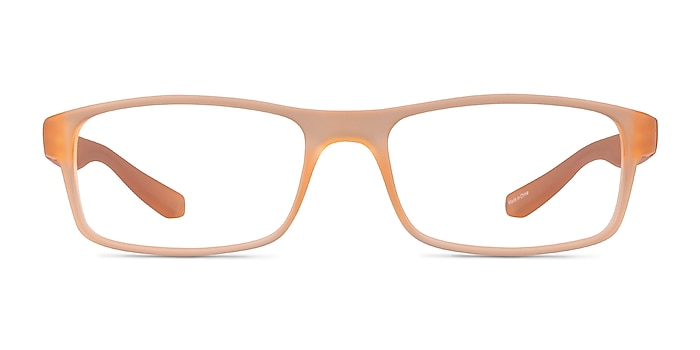 Over Light Orange Plastique Montures de lunettes de vue d'EyeBuyDirect