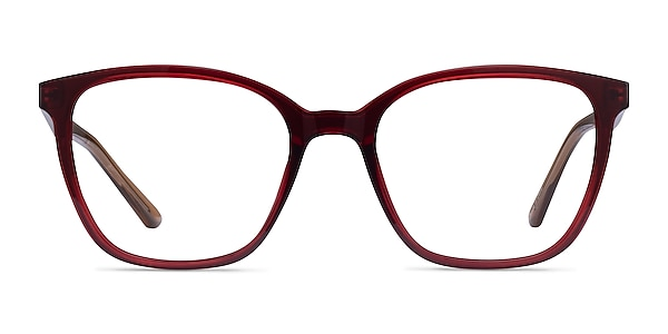 Identical Clear Red & Clear Brown Plastic Eyeglass Frames