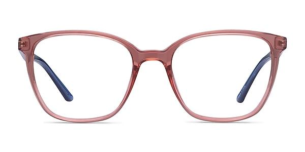 Identical Clear Pink & Clear Blue Plastic Eyeglass Frames