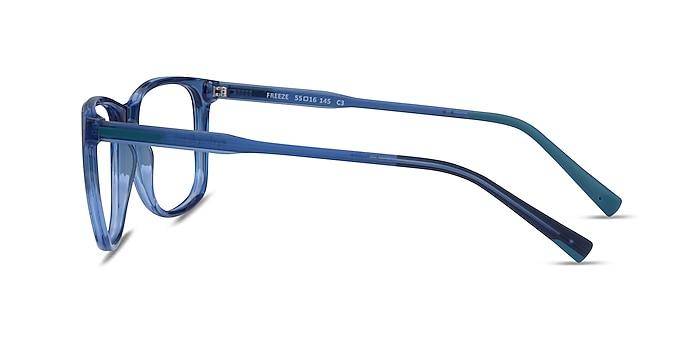 Freeze Clear Blue Plastique Montures de lunettes de vue d'EyeBuyDirect