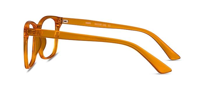 Hope Clear Orange Plastic Eyeglass Frames from EyeBuyDirect
