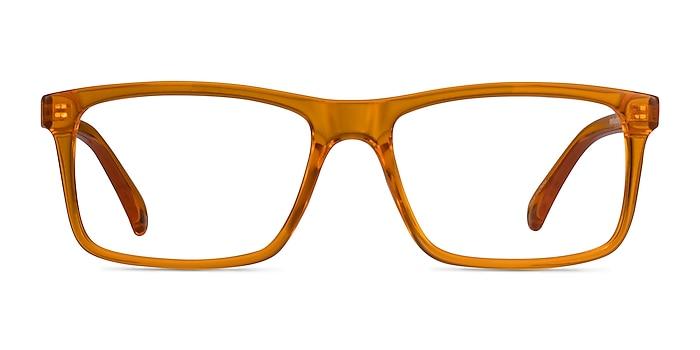Community Clear Orange Plastique Montures de lunettes de vue d'EyeBuyDirect