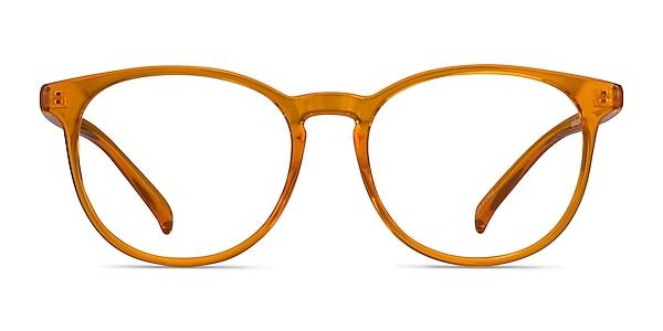 Rainbow Clear Orange Plastic Eyeglass Frames
