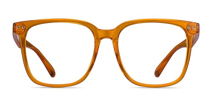 Freedom Clear Orange Plastic Eyeglass Frames from EyeBuyDirect