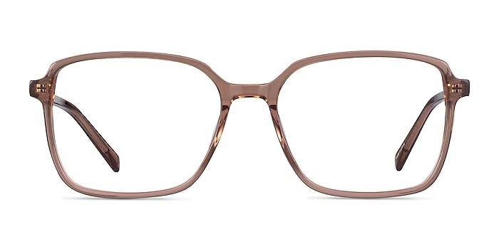 Nonchalance Clear Brown Acétate Montures de lunettes de vue d'EyeBuyDirect