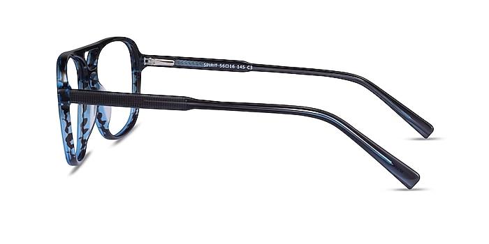 Spirit Blue Striped Acétate Montures de lunettes de vue d'EyeBuyDirect