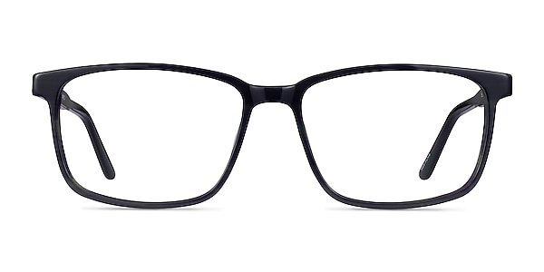 Shift Green Black Striped Acétate Montures de lunettes de vue