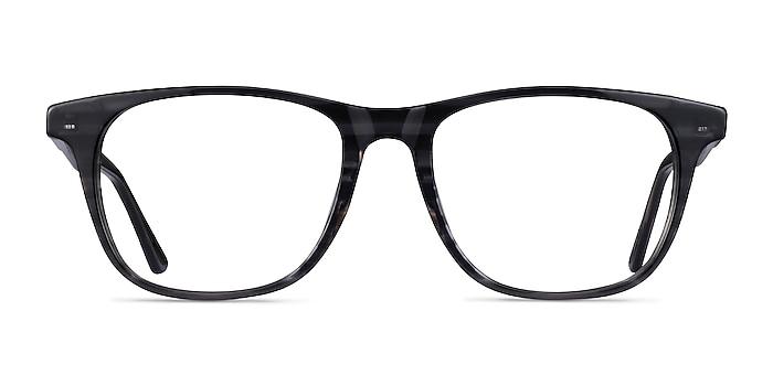 Easy Gray Striped Acétate Montures de lunettes de vue d'EyeBuyDirect