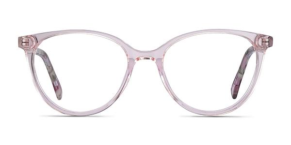 Friend Clear Pink Floral Acetate Eyeglass Frames