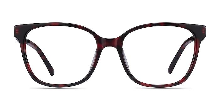 Miracle Red Tortoise  Black Acetate Eyeglass Frames from EyeBuyDirect
