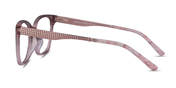 Miracle Pink Acetate Eyeglass Frames from EyeBuyDirect