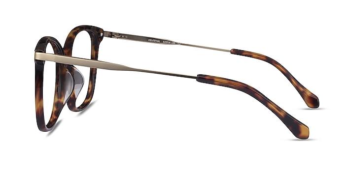 Celestial Tortoise  Gold Acetate Eyeglass Frames from EyeBuyDirect