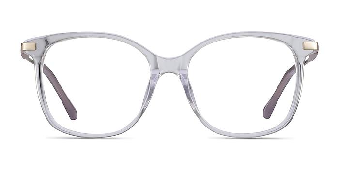 Celestial Clear  Gold Acetate Eyeglass Frames from EyeBuyDirect