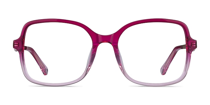 Clematis Clear Pink Acetate Eyeglass Frames from EyeBuyDirect