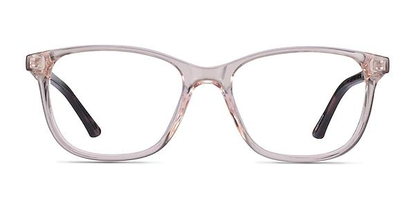 Paint Clear Pink Floral Plastic Eyeglass Frames