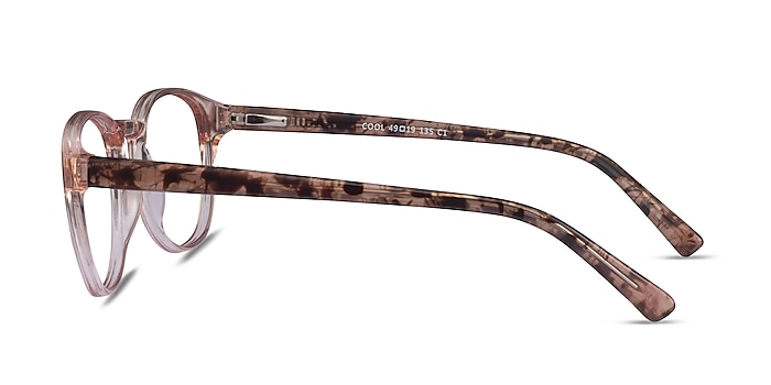 Cool Clear Pink Floral Plastic Eyeglass Frames from EyeBuyDirect
