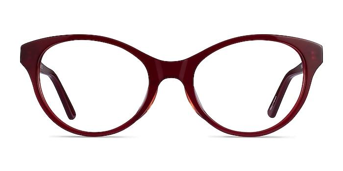 Dilly Burgundy Acétate Montures de lunettes de vue d'EyeBuyDirect