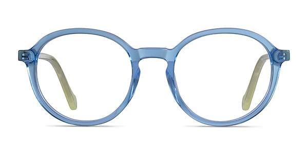 Happy Clear Blue Green Acetate Eyeglass Frames