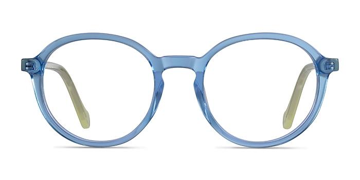 Happy Clear Blue Green Acétate Montures de lunettes de vue d'EyeBuyDirect