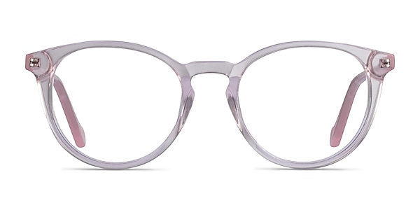 Amaze Clear Pink Acetate Eyeglass Frames