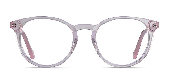Amaze Clear Pink Acetate Eyeglass Frames from EyeBuyDirect