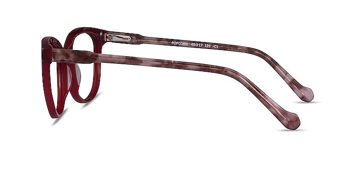 Popcorn Red Floral Acétate Montures de lunettes de vue d'EyeBuyDirect