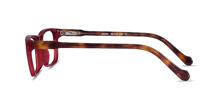 Scuba Red Tortoise Acetate Eyeglass Frames from EyeBuyDirect