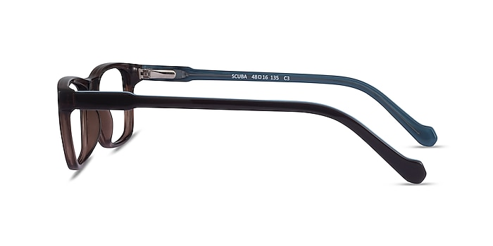 Scuba Brown Blue Acétate Montures de lunettes de vue d'EyeBuyDirect
