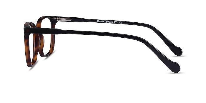 Travel Tortoise Black Acétate Montures de lunettes de vue d'EyeBuyDirect