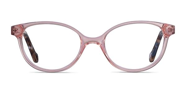 Grenadine Clear Pink Floral Acetate Eyeglass Frames