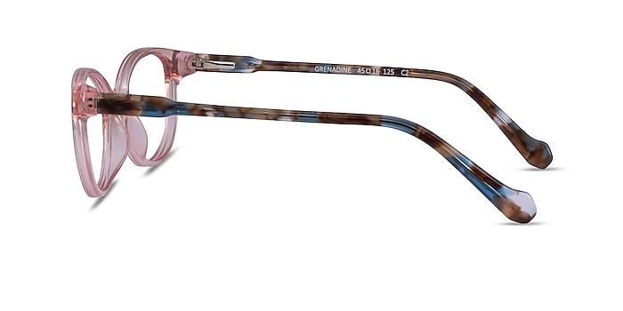 Grenadine Clear Pink Floral Acetate Eyeglass Frames from EyeBuyDirect