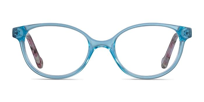Grenadine Clear Blue Floral Acetate Eyeglass Frames from EyeBuyDirect