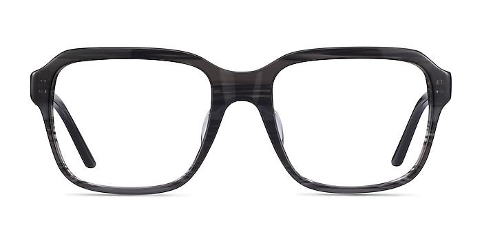 Neat Striped Gray Acétate Montures de lunettes de vue d'EyeBuyDirect