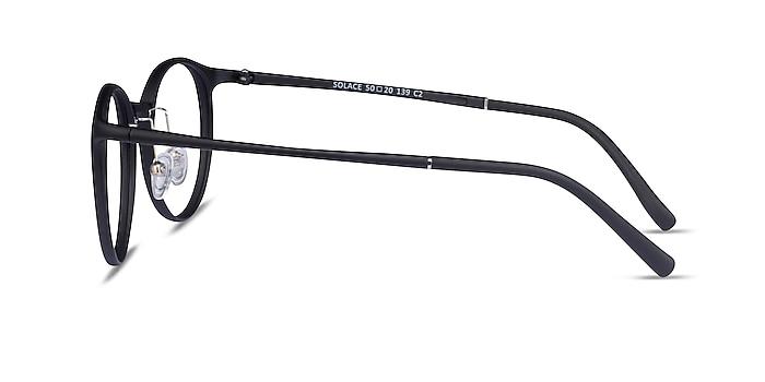 Solace Matte Black Plastique Montures de lunettes de vue d'EyeBuyDirect