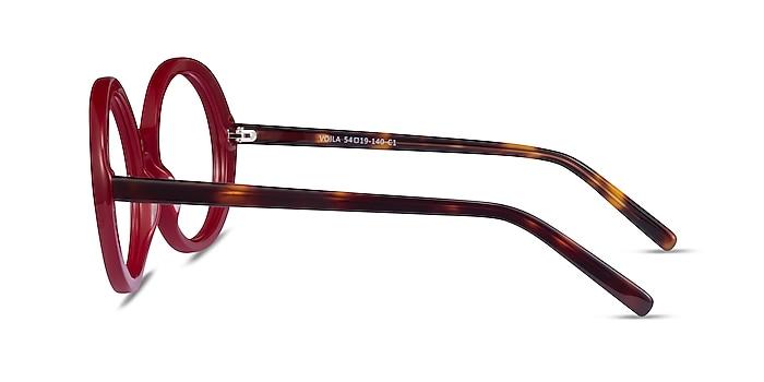 Voila Burgundy Tortoise Acetate Eyeglass Frames from EyeBuyDirect