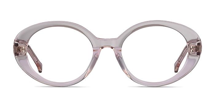 Bree Clear Beige Acétate Montures de lunettes de vue d'EyeBuyDirect