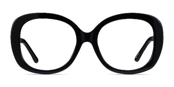 Tess Black Acetate Eyeglass Frames