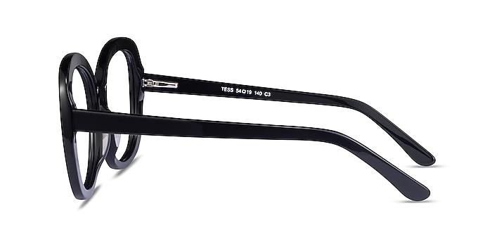 Tess Black Acetate Eyeglass Frames from EyeBuyDirect