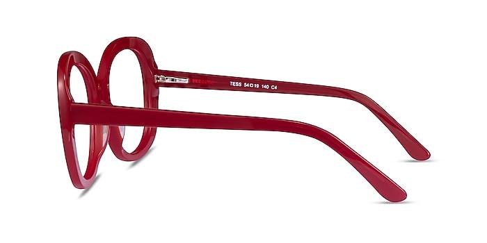 Tess Burgundy Acetate Eyeglass Frames from EyeBuyDirect