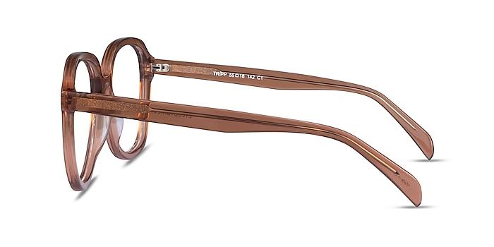 Tripp Clear Brown Acetate Eyeglass Frames from EyeBuyDirect