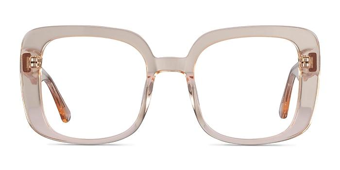 Calista Clear Yellow Acetate Eyeglass Frames from EyeBuyDirect