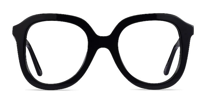 Cathy Noir Acétate Montures de lunettes de vue d'EyeBuyDirect